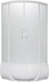 Masažinė dušo kabina  Erlit 5509TP-S3, 90 x 90 cm, 4 dalių, aukštu padu
