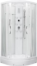 Masažinė dušo kabina Erlit 5509P-S2, 90 x 90 cm, 4 dalių, žemu padėklu