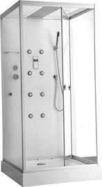 Dušo kabina Erlit Mia 90-W1, 90 x 98 cm, 4 dalių, žemu padu