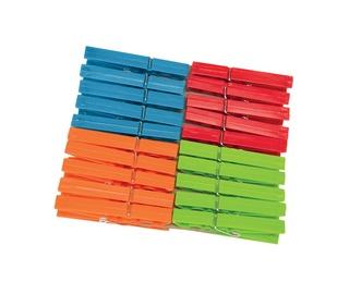 Pesulõksud York 20 tk 4 värvilised