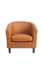 Rudas fotelis HY-9030 juodomis kojomis