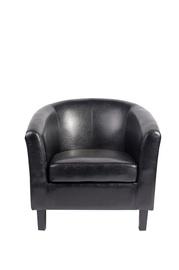 Juodas fotelis HY-9030 juodomis kojomis