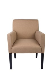 Kremo spalvos fotelis B27 91-11 su porankiais