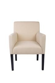 Kremo spalvos fotelis B27 HL91-2 su porankiais