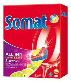 """Indaplovių tabletės Somat """"All in 1 Lemon"""", 52 vnt"""