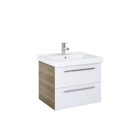 Pakabinamoji spintelė su stalčiais Novito, 65 cm, balta