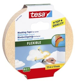 Maalriteip kumeratele servadele Tesa Flexible, 25m x 19mm