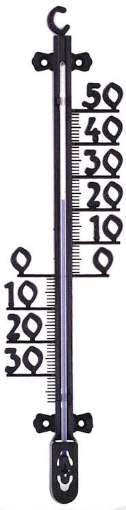 Termomeeter välistingimustesse 26cm, must plastik