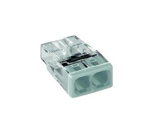 Instalācijas klemme Wago 2P 0,5-2,5mm² 24A 400V, 100 gab.