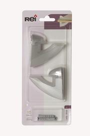 Riiulikandur klaasriiulile, 3-26 mm, matt kroom, 2 tk