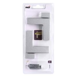 Riiulikandur Quatro XL, 3-40 mm, matt kroom, 2 tk