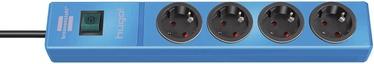 Pikendusjuhe Brennenstuhl Hugo 3G1.5, 2m, 4 pesa, lülitiga, sinine