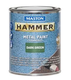 Krāsa metālam Maston Hammer Hammered 750ml, zaļa