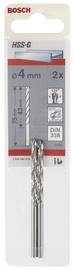 Metallipuur Bosch HSS-G 4,0 x 75mm, 2tk