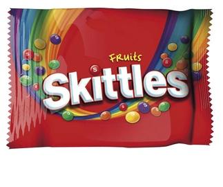 Konfektes Skittles Fruits 125g