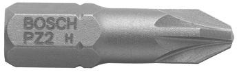 Īpaši cieti skrūvgrieža uzgaļi Bosch PZ2 25mm, 3 gab.