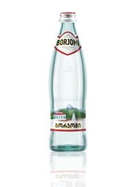 Minerālūdens Borjomi 0,5L, stikla pudele