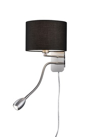 Sienas lampa Trio 40W E14 + LED 3W, melna