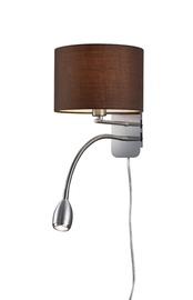 Sienas lampa Trio E14 40W + LED 3W, brūna