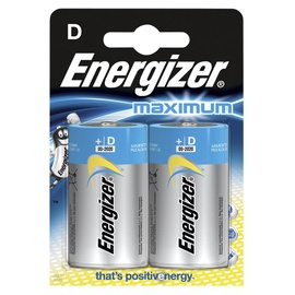 Patarei Energizer Maximum D 1.5V, 2tk