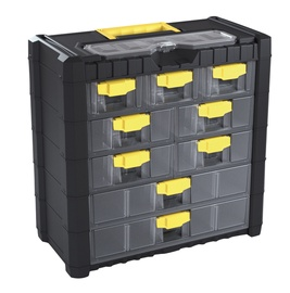 Tarvikute kast Prosperplast Cargo, 9 sahtlit sangaga