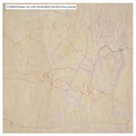 Marmorplaat 30,5x30,5 Yellow Cream, läikiv