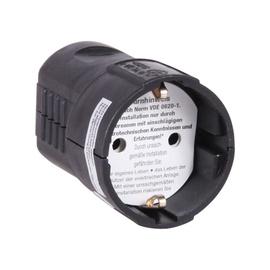 Kontaktligzda ar zemējumu Duwi 1P 250V 16A, melna