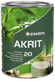 Seinavärv Eskaro Akrit 20, poolmatt, valge (A) 0,95L