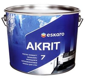 Seinavärv Eskaro Akrit 7, matt, valge (A) 9,5L