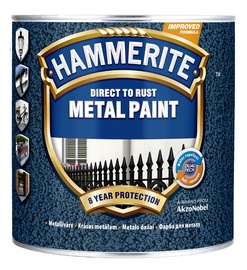 Krāsa metālam Hammerite Hammered 2,5L, melna
