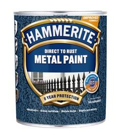 Krāsa metālam Hammerite Hammered 750ml, sudrabpelēka