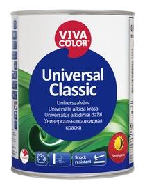 Alküüdvärv Vivacolor Universal Classic, poolläikiv, valge 0,9L