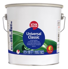 Alküüdvärv Vivacolor Universal Classic, poolläikiv, valge 2,7L