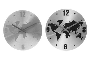 Seinakell maailmakaardiga, valge/must