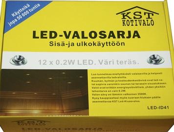 Iebūvējams saunas gaismeklis KST LED 12x0,2W IP54, niķelis
