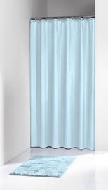 Dušas aizkars Sealskin Solid 180x200cm, gaiši zils