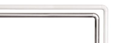 Dušas aizkaru stūra stanga 90x90cm Ø25mm, balta