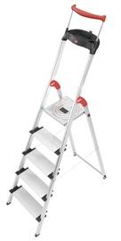 Alumīnija kāpnes Hailo XXR Easyclix Comfortline, 5 pakāpieni