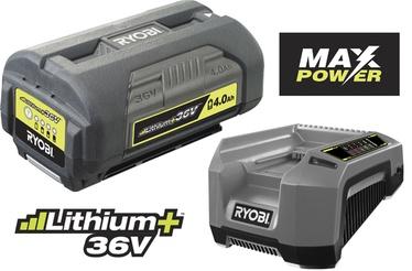 Akumulators ar lādētāju Ryobi RBPK3640D5A 36V 4Ah Li-Ion