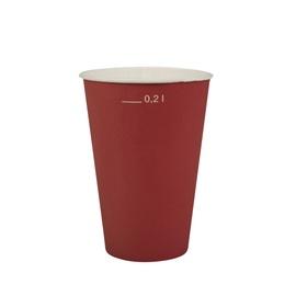 Papīra glāzes Pap Star 200ml, sarkanas, 20 gab.