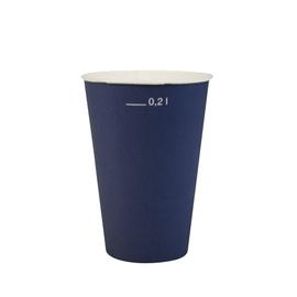 Papīra glāzes Pap Star 200ml, zilas, 20 gab.