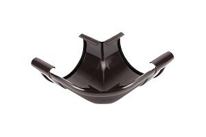 Vihmaveerenni välisnurk Galeco PVC pruun 90° 110mm