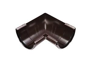 Vihmaveerenni sisenurk Galeco PVC pruun 90° 110mm