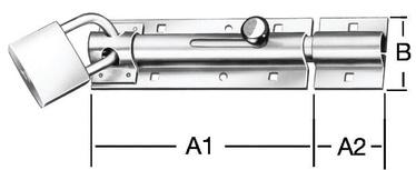 Riiv, 130x43mm, lukustatav