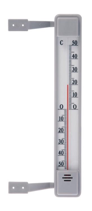 Termomeeter välistingimustesse 20cm, plastik, hall