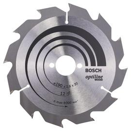 Saeketas Bosch Optiline Wood, 190x30 mm, 12WZ