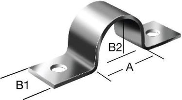 Cauruļu skava Vorman 9x15mm
