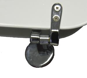 Tualetes poda vāka piestiprināšanas komplekts, metāla