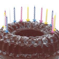 Kūkas sveces ar turētājiem, 24 gab.