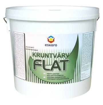 Kruntvärv Eskaro Flat, valge, 9L